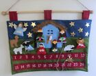 Transpac Felt Advent Nativity Christmas Calendar 27 x 18 24 Pockets New