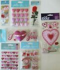 Scrapbooking Stickers Jolees Boutique Lot VALENTINE Holiday Hearts Roses Love
