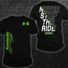 Kawasaki/Ninja/H2 SX/ZX-150RR/H2R/125/Never Stop The Ride Men's T-Shirt Hot Gift