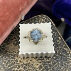 Vintage Taxco Mexico Signed Sanchez Sterling Silver 925 Blue Topaz Ring 675