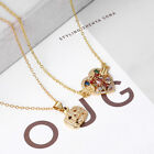 CZ Crystal Heart Shell Tree Of Life Pendant Necklace Rainbow Eye Copper Jewelry