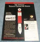 1997 Franklin Mint Texaco Gas Pump Collector Knife Vintage Ad