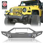 Rock Crawler Front Bumper w Winch PlateLED Light for 87 06 Jeep Wrangler YJ TJ