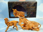 2 Fontanini Animals Nativity Seated Donkey 52533 AND Standing Lamb 5 Inch Italy