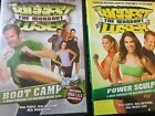 2 Biggest Loser The Workout DVDs Power Sculpt  Boot Camp