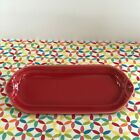 Fiestaware Scarlet Relish Tray Fiesta Red Retired Corn on the Cob Tray