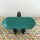 Fiestaware Turquoise Relish Tray Fiesta Blue Retired Corn on the Cob Tray