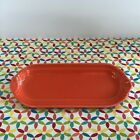 Fiestaware Poppy Relish Tray Fiesta Orange Retired Corn on the Cob Tray