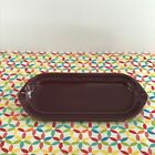 Fiestaware Claret Relish Tray Fiesta Retired Corn on the Cob Tray