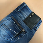 GStar Jeans Fender Skinny Low Rise Blue Vintage Womens LabelW26L32 Small UK 8