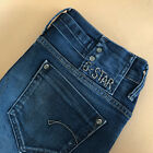 GStar Jeans Midge Skinny Low Rise Blue Vintage Womens LabelW29L32 UK 12