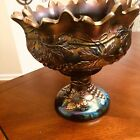Carnival Glass Bowl  Six Cups with the Northwood Grape And cable With N Stamp