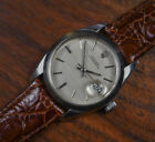 Vintage ROLEX OYSTERDATE 6694 Stainless Steel Manual Wind Watch Silver Dial