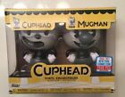 Funko POP Cuphead & Mugman Exclusive BLACK & White Figure 2-Pack NEW 2017 NYCC