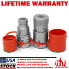 1 2 NPT Flat Face Hydraulic Quick Connect Couplers Coupling Skidsteer Bobcat Set