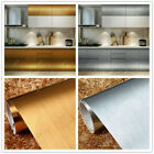 2 4m Self Adhesive Stainless Steel Brushed Contact Paper Vinyl Film Wallpaper