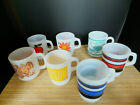 Vntg Lot of 7 Assorted Anchor Hocking Fire King Glasbake Coffee Mugs