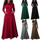 Prom Maxi Long Women Cocktail Dress Abaya Muslim UK Sleeve Islamic Jilbab Kaftan