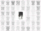Trodat Self Inking Personalised Text Laser Rubber Stamps 44 fonts to Choose