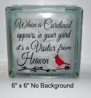 When a Cardinal appears its a Visitor Decal sticker for DIY 8 Glass Block