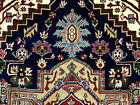 9x12 DARK BLUE HAND KNOTTED WOOL RUG NEW OUSHAK HERIZ rust handmade geometric