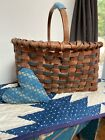 Early Old Primitive Small Farm Basket Blue