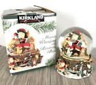Kirkland Signature Musical Snow Waterglobe Revolving Base Santa Forest Critters