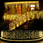 13 130FT LED Fairy Icicle Curtain Light Party Indoor Outdoor Xmas Decoration HOT