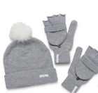 Young Living Branded Heather Gray Beanie Winter Hat and Mittens Gloves - Promo