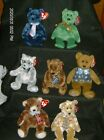 Ty Beanie Babies Father's Day Bears and Grandfather Bear New