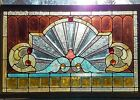 GREAT ANTIQUE STAINED BEVELED GLASS WINDOW