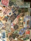 Lot Of 5 Different World Foreign Banknotes All Different Old New Banknotes