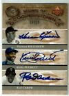 2005 UD SIGNS OF COOPERSTOWN Kirby Puckett Harmon Killebrew Rod Carew # 20 Auto