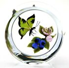DELIGHTFUL Victor TRABUCCO Spring BLOSSOMS & BUTTERFLY Art Glass PAPERWEIGHT