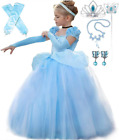 Special Edition Cinderella Party Embroidered Dress up Costume with Accessories