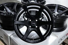 15x8 Black Wheels Rims Low Offset Honda Accord Civic Corolla Black Rim 4x100 4
