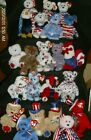 Ty Beanie Babies 4th of July, Independence Day, Red White & Blue Themed New