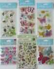 Scrapbooking Stickers Jolees Boutique Lot BUTTERFLIES Bumblebees Insects
