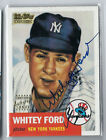 WHITEY FORD 2001 TOPPS TEAM LEGENDS 1952 STYLE AUTO AUTOGRAPH ON CARD SSP
