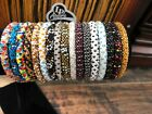 Confetti 10 SET Nepal Rolls Glass Beaded bracelet crochet Bangle Random Mix