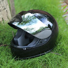 Motorcycle Scooter Street Bike Full Face Helmet Glossy Sliver Visor M L XL TCMT