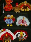Ty Beanie Babies Thankful Bear, Thanksgiving Turkeys -Mostly Ty Store New