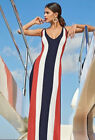 's Long Maxi Patriotic Red, White, Blue Dress Size Small 4