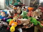 Beanie babies lot kicks wise scoop huggy goatee more