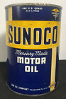 Vtg 1946 SUNOCO Motor Oil 1 Quart Oil Can Mercury Made Sun Oil Philadelphia Rare