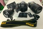 NIKON D5300 24MP Full HD video + 18-55 VR II + 70-300mm lenses + 3 Batteries +