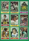 1974 Topps Football lot of 226 diff cards Harris Stabler Griese Guy RC