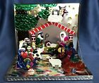 VTG Mexican Folk Art 3 D Christmas Nativity ESCENA DE NAVIDAD TIN Set Box 95