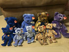 TY Beanie Baby Clubby, Clubby II, Clubby III, & Clubby IV Lot of 9