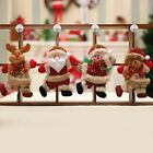 Christmas Ornaments Santa Claus Snowman Reindeer Doll Toy Hang Decorations 4pcs